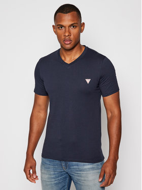 Guess Guess T-Shirt M0BI37 I3Z11 Tmavomodrá Slim Fit