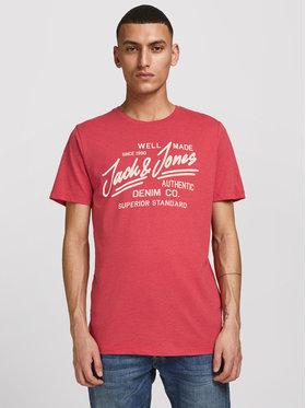 Jack&Jones Jack&Jones Тишърт Jeans 12177533 Червен Slim Fit
