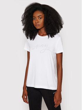 DKNY DKNY T-Shirt P1DSEDNA Biały Regular Fit