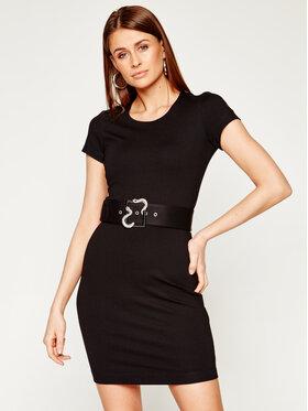 Just Cavalli Just Cavalli Коктейлна рокля S02CT0997 Черен Slim Fit