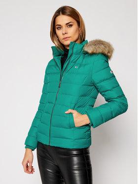 Tommy Jeans Tommy Jeans Μπουφάν πουπουλένιο Basic DW0DW08588 Πράσινο Slim Fit