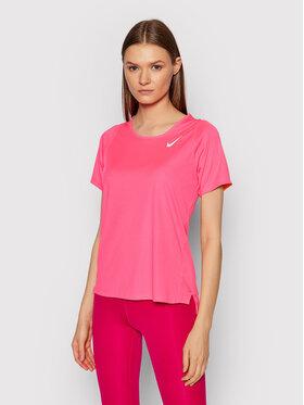 Nike Nike Techniniai marškinėliai Race DD5927 Rožinė Regular Fit