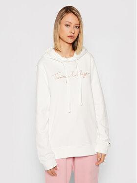 Tommy Hilfiger Tommy Hilfiger Sweatshirt Abo Th Ess WW0WW33100 Blanc Regular Fit
