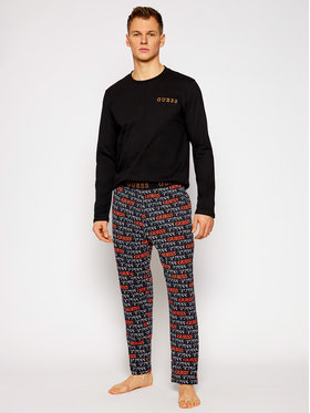 Guess Guess Pyžamo U0BX01 JR018 Čierna Regular Fit
