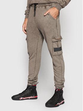 HYPE HYPE Pantaloni da tuta YWF-025 Marrone Regular Fit