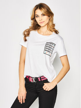 Emporio Armani Emporio Armani T-Shirt 3H2T7A 2JSYZ 0100 Biały Regular Fit