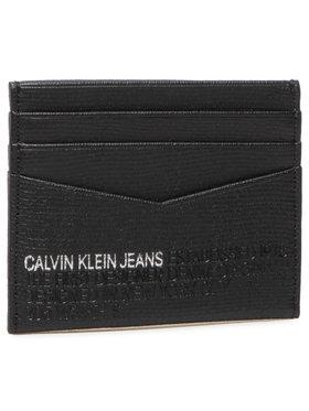 Calvin Klein Jeans Calvin Klein Jeans Etui na karty kredytowe Cardcase 6Cc Lth K50K506199 Czarny
