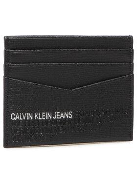 Calvin Klein Jeans Calvin Klein Jeans Kreditinių kortelių dėklas Cardcase 6Cc Lth K50K506199 Juoda