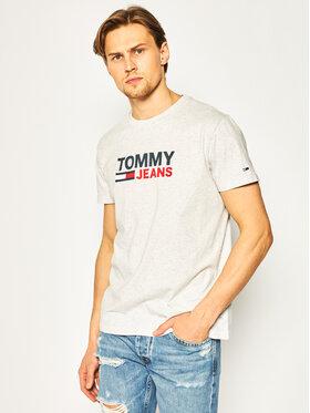 Tommy Jeans Tommy Jeans T-Shirt Corp Logo DM0DM07843 Szary Regular Fit