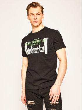 Diesel Diesel T-Shirt T-Diego-S13 00SEFY 0091A Černá Regular Fit