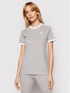 adidas adidas T-Shirt adicolor Classics 3-Stripes GN2909 Šedá Regular Fit