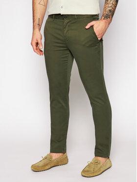 Tommy Hilfiger Tommy Hilfiger Spodnie materiałowe Bleecker MW0MW13287 Zielony Slim Fit