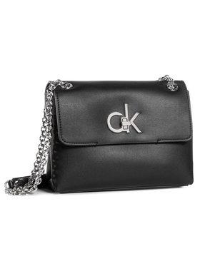 Calvin Klein Calvin Klein Дамска чанта Ew Conv Flap Crossbody Md K60K606675 Черен