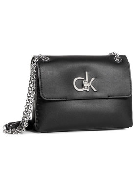 Calvin Klein Calvin Klein Τσάντα Ew Conv Flap Crossbody Md K60K606675 Μαύρο