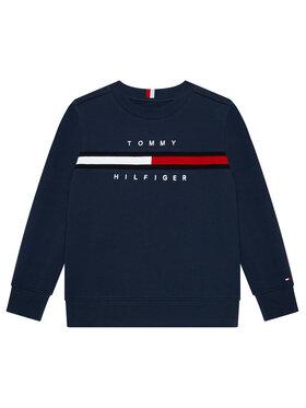 Tommy Hilfiger Tommy Hilfiger Bluza Flag Rib Insert Sweatshirt KB0KB06568 M Granatowy Regular Fit