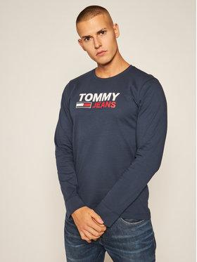 Tommy Jeans Tommy Jeans Marškinėliai ilgomis rankovėmis Crop Logo DM0DM09487 Tamsiai mėlyna Regular Fit