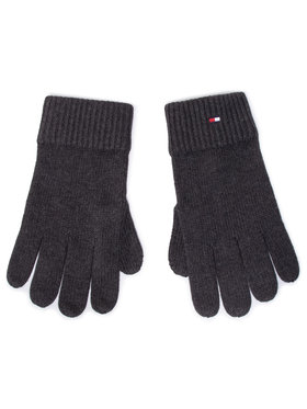 Tommy Hilfiger Tommy Hilfiger Herrenhandschuhe Pima Cotton Gloves AM0AM06591 Grau