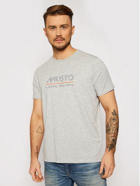 Musto Musto Marškinėliai Lr Logo 84008 Pilka Regular Fit