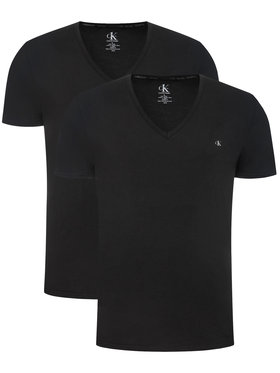 Calvin Klein Underwear Calvin Klein Underwear Set 2 tricouri 000NB2408A Negru Regular Fit