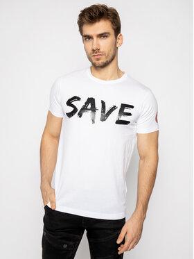 Save The Duck Save The Duck Póló DT401M JESYX Fehér Regular Fit