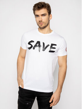 Save The Duck Save The Duck T-shirt DT401M JESYX Blanc Regular Fit