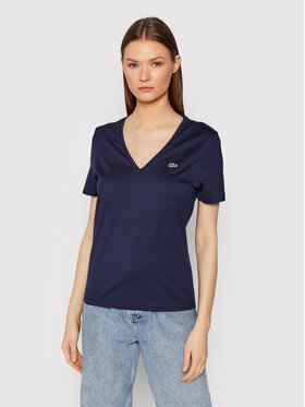 Lacoste Lacoste Тишърт TF8392 Тъмносин Relaxed Fit