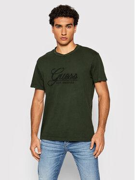 Guess Guess T-Shirt M1BI26 K8FQ1 Zelená Regular Fit