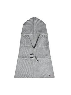 Tommy Hilfiger Tommy Hilfiger Okrugli šal Essential Knit Hooded Snood AW0AW10718 Siva