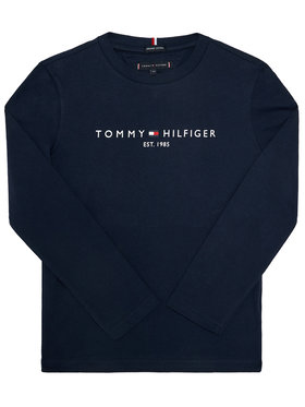 TOMMY HILFIGER TOMMY HILFIGER Bluzka Essential KB0KB06105 D Granatowy Regular Fit