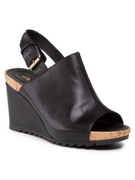 Clarks Clarks Sandále Flex Stitch 261574334 Čierna