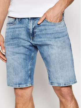 Tommy Jeans Tommy Jeans Džínsové šortky Scanton DM0DM10559 Modrá Slim Fit