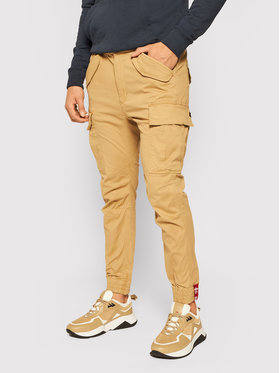 Alpha Industries Alpha Industries Joggery Airman 188201 Beżowy Tapered Fit