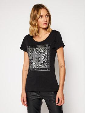 Liu Jo Liu Jo T-Shirt WF0150 J0250 Černá Regular Fit