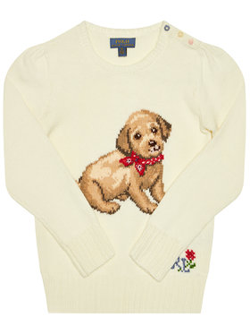 Polo Ralph Lauren Polo Ralph Lauren Megztinis Dog 311787279001 Balta Regular Fit