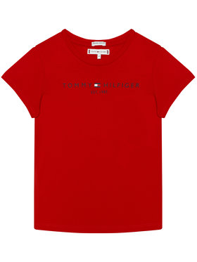 TOMMY HILFIGER TOMMY HILFIGER T-Shirt Essential Tee KG0KG05512 D Κόκκινο Regular Fit