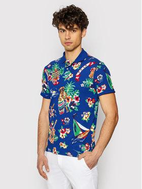 Polo Ralph Lauren Polo Ralph Lauren Тениска с яка и копчета Bearwaiian 710823129001 Тъмносин Regular Fit