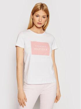 Tommy Hilfiger Tommy Hilfiger T-Shirt Tommy Box WW0WW30658 Bílá Regular Fit