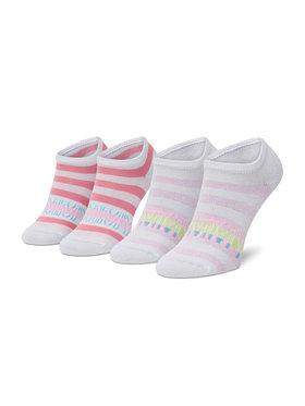 Tommy Hilfiger Tommy Hilfiger Súprava 2 párov detských členkových ponožiek 100002313 Biela