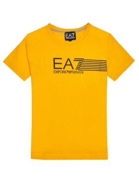 EA7 Emporio Armani EA7 Emporio Armani T-Shirt 3KBT54 BJ02Z 1604 Żółty Regular Fit