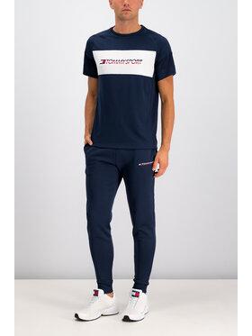 Tommy Sport Tommy Sport T-Shirt Mesh Sleeve S20S200199 Granatowy Regular Fit