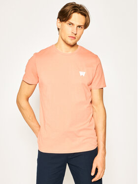 Wrangler Wrangler T-shirt Sign Off Tee W7C07D304 Narančasta Regular Fit