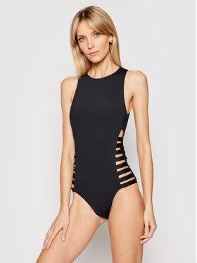 Seafolly Seafolly Maudymosi kostiumėlis Multi Strap High Neck Maillot 10791-058 Juoda