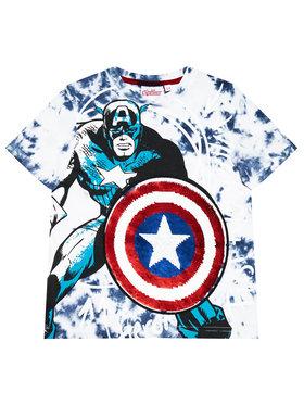Desigual Desigual T-Shirt Captain 21SBTK09 Modrá Regular Fit