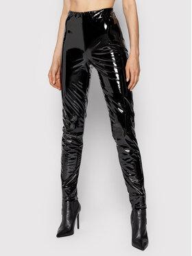 Silvian Heach Silvian Heach Spodnie z imitacji skóry Snak PGA21711LE Czarny Slim Fit