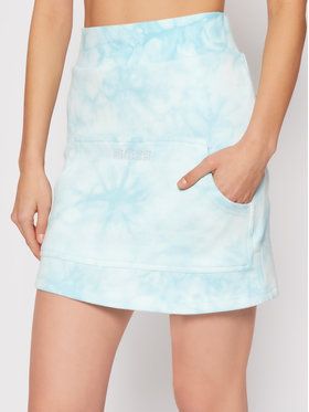 Guess Guess Minigonna Embroidery Tie O1GA09 K68I1 Blu Regular Fit
