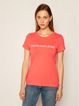 Calvin Klein Jeans Calvin Klein Jeans Tričko Institutional Logo J20J213127 Ružová Slim Fit