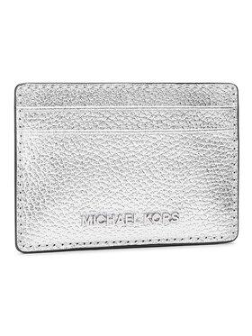 MICHAEL Michael Kors MICHAEL Michael Kors Pouzdro na kreditní karty Jet Set 34H9SJ6D5L Stříbrná