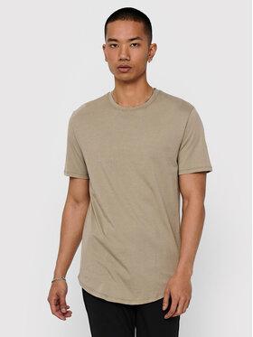 Only & Sons ONLY & SONS Marškinėliai Matt Life Longy 22002973 Smėlio Regular Fit