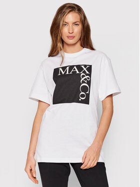 MAX&Co. MAX&Co. Тишърт Tee 49749621 Бял Regular Fit