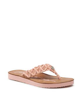 Tommy Hilfiger Tommy Hilfiger Zehentrenner Th Faded Leather Footbed Sandal FW0FW05808 Rosa